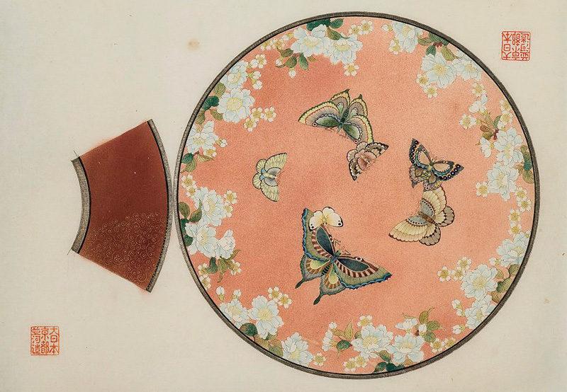 《桜花蝶文皿》並河靖之七宝記念館