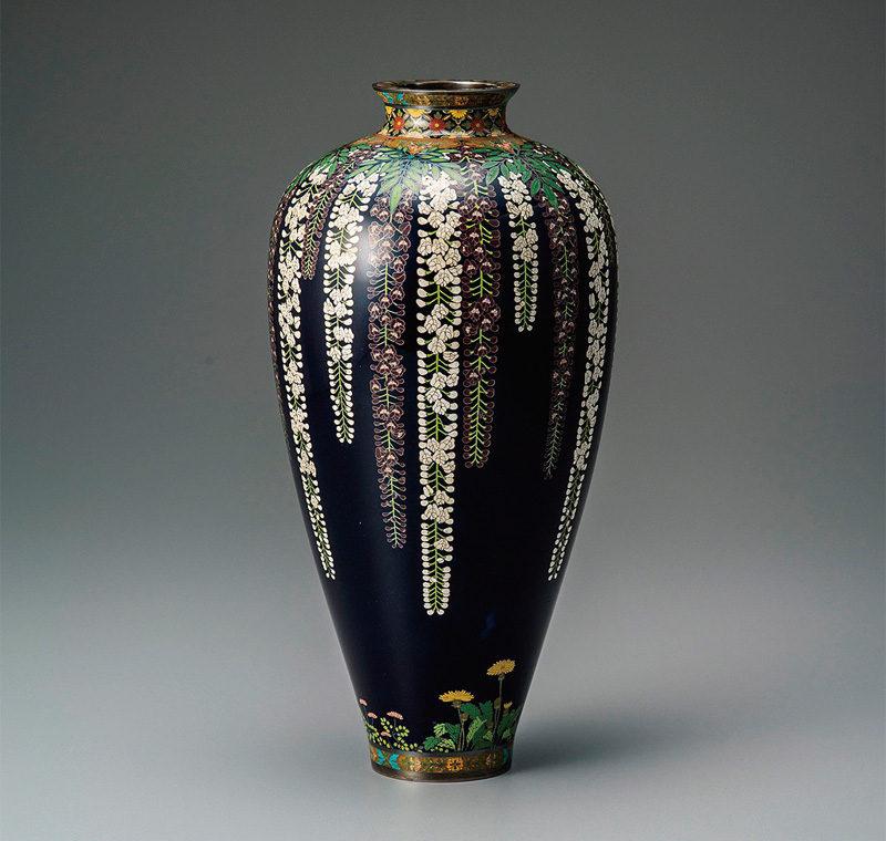 《藤草花文花瓶》並河靖之七宝記念館