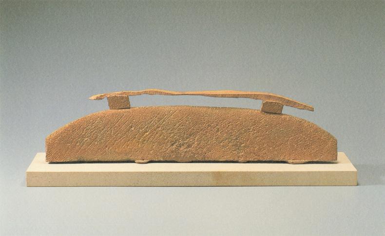 橋本明夫《気流・天と地》鋳鉄、2006年